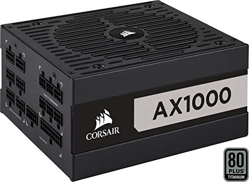 Corsair AX1000 AX Series Vollmodulares, 80 Plus Titanium Netzteil (1000 Watt) schwarz (EU)