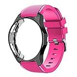LGFCOK Funda de silicona+banda para Samsung Galaxy reloj 46 mm/42...