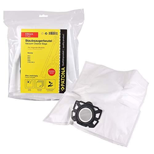 PATONA 5x Sachets aspirateur 2.863-006.0 compatible avec Kärcher MV4 MV5 MV6 WD6 | sachet filtrant résistant fibre à 5 couches