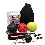 Remebe Boxing Reflex Ball, 3 Niveles Activpulse Reflex Ball con Diadema Ajustable, Entrenador de Boxeo para coordinación de Ojos y Mano, Punching Ball para reacciones