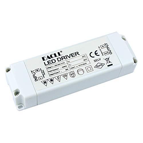 EACLL LED Trafo AC 240V zu DC 12V 3A 36W Transformatoren Für drive Weniger als 36W MR11 G4 MR16 GU5.3 LED Birnen Lichtstreifen Transformator LED Lampen Dedizierten Treiber Netzteil, 1 Stück