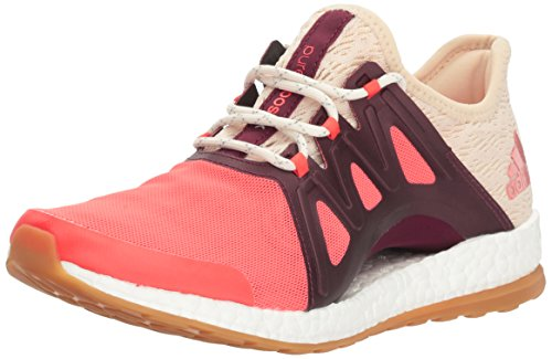 adidas Women's Pureboost Xpose Clima Running Shoe, Easy Coral/White/Light Maroon, 11 M US