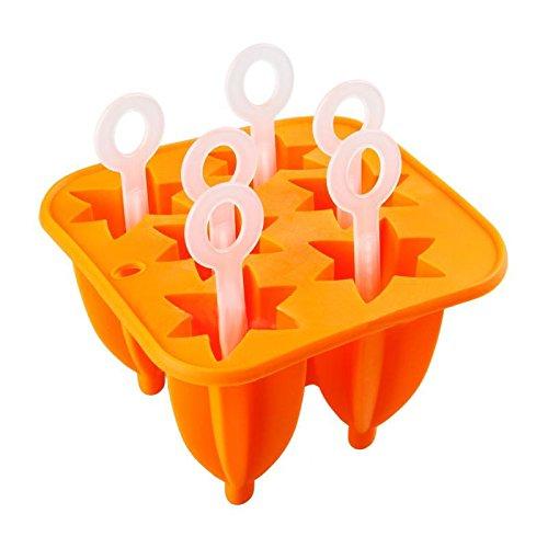 YAzNdom Popsicle mallen, ijs mallen, 6 siliconen paprika mallen Creatieve ijsvorm ijs koelkasten DIY ijs paprika mallen