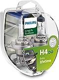 Philips 12342LLECOS2 LongLife EcoVision H4 Scheinwerferlampe, 2-er Kit