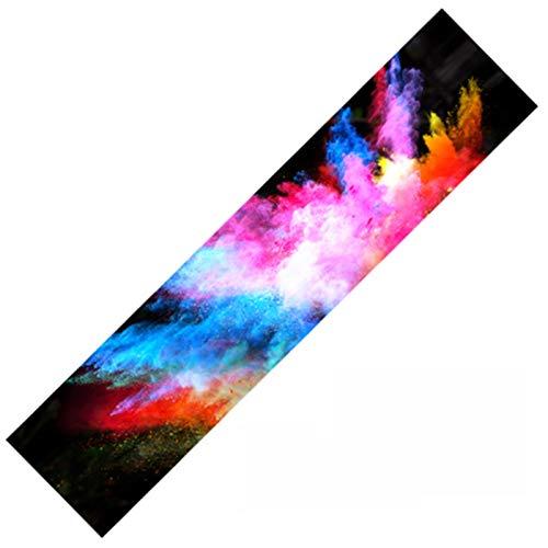 WULE-RYP Cinta de Agarre de monopatín, Papel de Lija de 122x26 cm o 23x84cm, Papel de Lija de Scooter de Skate Griptape, Anti-Slid Graphic Deck Protective (Color : F, Size : 122x26cm)