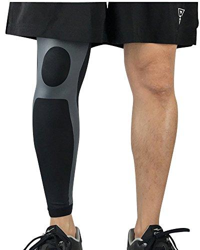 Qitun Calcetines de Compresion de Pierna Completa,Elástica Transpirable Como Leg Warmers/Accesorio de Ciclismo.(Envoltura única)