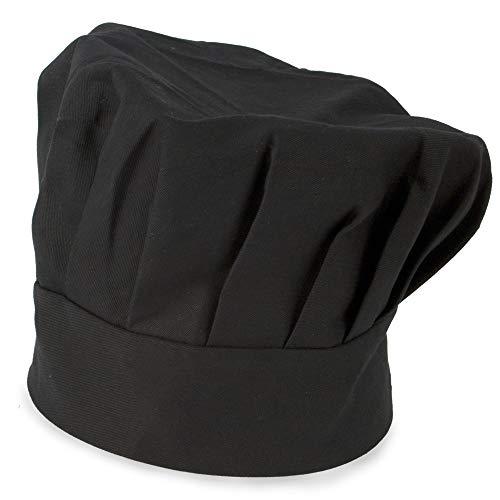 My Custom Style Cappello Chef Regolabile in Cotone Nero 27,5x20 Senza Stampa