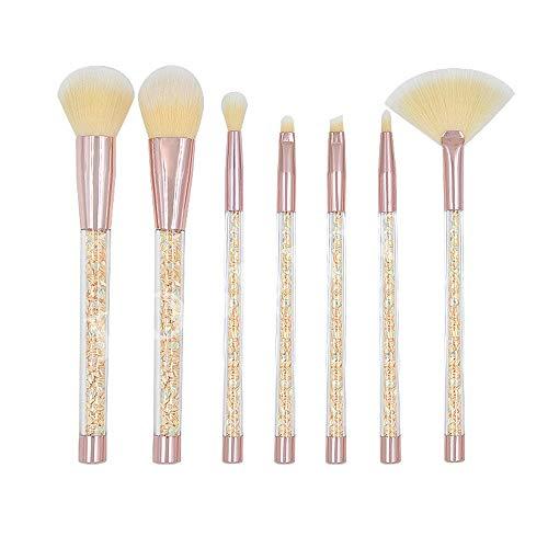 Pinceaux de maquillage femmes Pinceau en cristal clair poignée de maquillage de pinceau de maquillage réglé poignée de remplissage liquide de sable liquide Doux (Color : Jaune, Size : One Size)