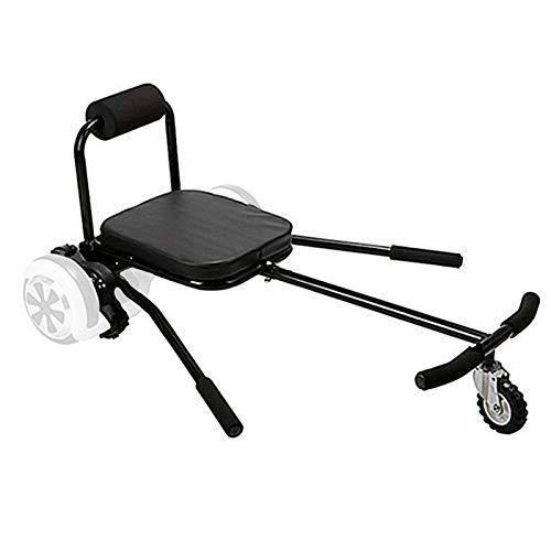 """TGHY Hoverkart Kart de Hoverboard Asiento de Hoverkart Ajustable para Scooters de Autoequilibrio Se Ajusta a Tamaños de Hoverboard de 6.5"""" 8"""" y 10"""" Juguete Infantil Fácil y Divertido,Negro"""