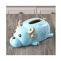 おしゃれティッシュボックスケース クリエイティブなティッシュボックスカバーレトロな樹脂ナプキン容器の顔の紙箱の箱の装飾のためのかわいい紙のディスペンサー (Color : C)