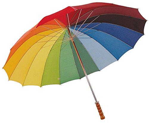 eBuyGB 16 Panel Rainbow Coloured Wedding/Golf Umbrella Paraguas clásico, 130 cm, (Multicolour)