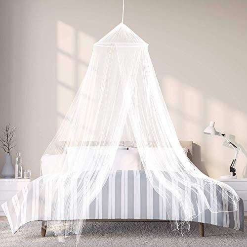 ALOOFSTER Moskitonetz - großes Mückennetz (über 12 Meter) mit besonders feinen Maschen für Doppelbett, Familienbett oder Outdoor - mit Reise-Zubehör