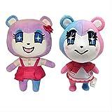 N\A 2pcs / Set 21cm / 25cm Animal Crossing Plush Cute Judy Cartoon Girl Plush Doll Soft Stuffed Doll Toys Gift