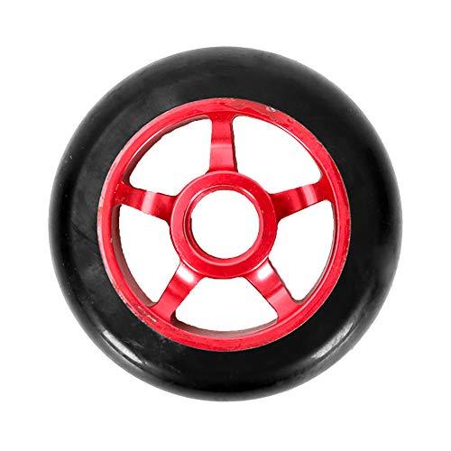 TGHY 2 Piezas Ruedas de Scooter Ruedas de Repuesto de PU de Scooter de Acrobacias de 100mm con Rodamientos Rueda de Carro,Rojo
