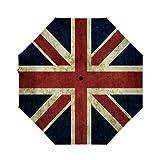 Best Uv Parasols - OcuteO Compact Small Mini Umbrella Automatic Retro Flag Review