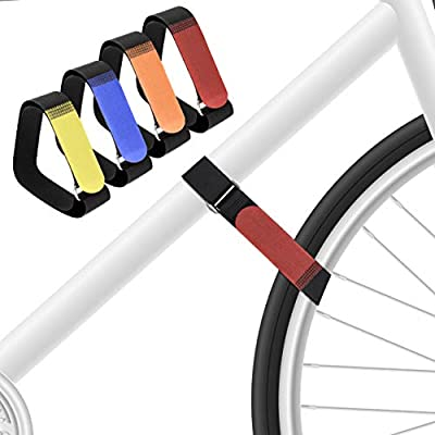 BaiYuan Bike Straps for Rack, 28-inch Adjustable Bicycle Wheel Stabilizer Straps Keep The Bike Wheel in Place Set of 4