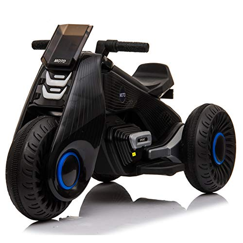 Motorcycle for Kids, Power Wheels with Rubber Tires, Motorcycle Kids Ride On Toy, Gift for Kids Boys Girls 3-8 Years Old