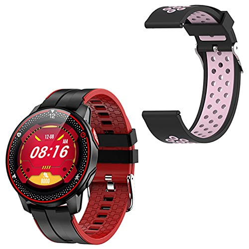LJMG Smartwatch, R18 Hombre IP68 Impermeable, Rastreador De Fitness, Monitor De Ritmo Cardíaco, Modo Deportivo Smartwatch Mujeres para Android iOS,A