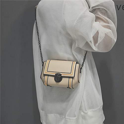 Generic Women Mini Shoulder Bags Tote Purse Messenger Hobo Metal Chain Crossbody Satchel Bag Khaki