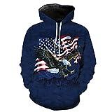 Animal American Eagle Flag Camo Caza Chándal Pullover Unisex Impresión 3D Sudaderas con Capucha/Cremallera/Chaqueta Hoodies XXL