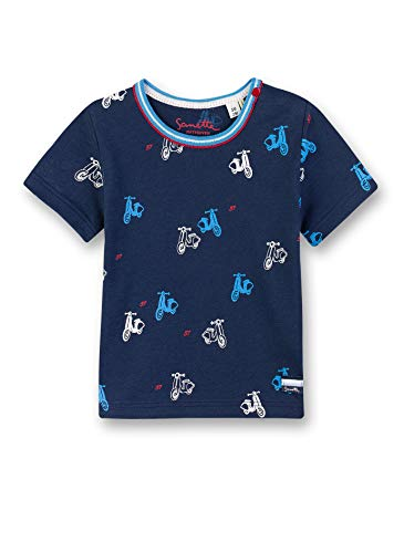 Sanetta Fiftyseven Shirt Manches Longues, Bleu (Blau 5993), 62 cm Bébé garçon