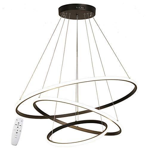 LED Pendelleuchte Esstisch Dimmbar ,Schwarz Hängelampe mit Fernbedienung Farbwechsel ,Schlafzimmer Leuchter moderne Kronleuchter Lampe Höhenverstellbar Esszimmerlampe Wohnzimmerlampe