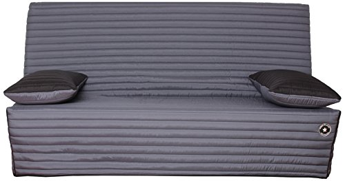 CANAPES TISSUS FREEZIA Banquette Canapé-Lit, Polyester, Anthracite, 190 x 95 x 98 cm