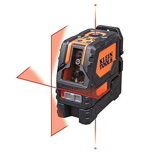 Klein Tools 93LCLS Laser Level, Cross Line Level with Plumb Spot, Leveler Tool with Magnetic...