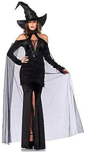 Shisky Cosplay kostüm Damen, Halloween-hohe Qualität SchwarzMaxi Dress Party Kostüm