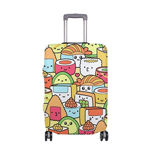 Kawaii Sushi Travel Lage Cover - Suitcase Protector Spandex Dust Proof Covers with Zipper,Fits XL29-32in-
