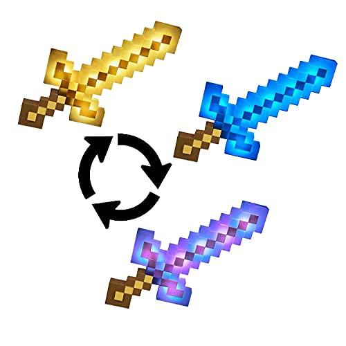 Minecraft Épée de Combat, Sons & Lumières, jouet d'action et d'aventure pour enfant inspiré par le jeu vidéo, FMD13