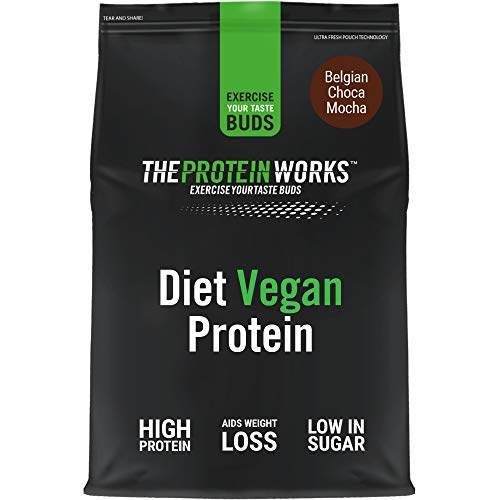 THE PROTEIN WORKS Diet Vegan Protein Powder   100% Plant-Based   Low Calorie & Low Sugar   Supports Weight Loss   Belgian Choca Mocha   1 Kg