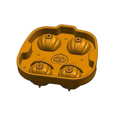 WEDFTGF 3D - Bandeja para cubitos de hielo (silicona), diseo de calabaza