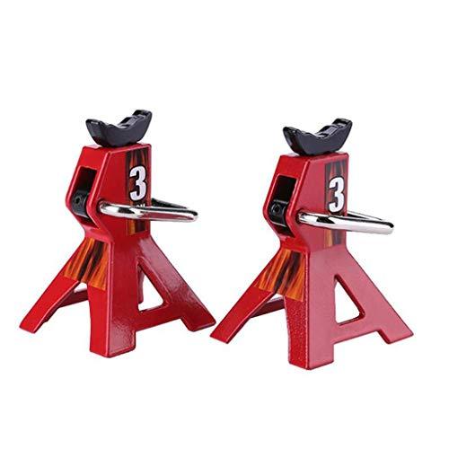 Floridivy 2 stuks Vervanging voor Crawler 1/10 RC klimmen auto Simulated Jack hoogte verstelbare Repair Bracket krik