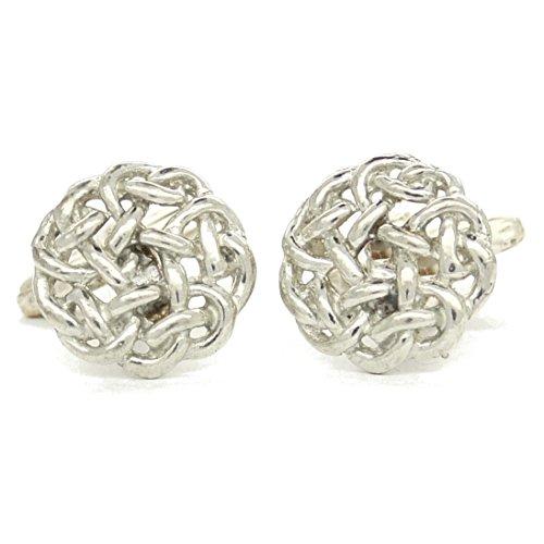 Celtic Knot Cuff Links, Celtic Knot Cufflinks, Celtic Cuff Links, Handmade, in Fine Pewter, by William Sturt