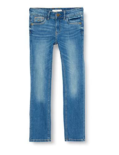 Name IT NOS Mens NKMTHEO DNMTISTIC 2304 Pant Bet NOOS Jeans, Medium Blue Denim, 128