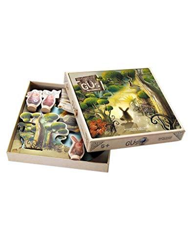 Marbushka Brettspiel - kooperativ Gesellschaftsspiel für Kinder und Familien 2-5 spielers ab 5 Jahren [Güs - magischer Wald] - ökologisch, nachaltig und fair-Trade aus natürlichen Materialien