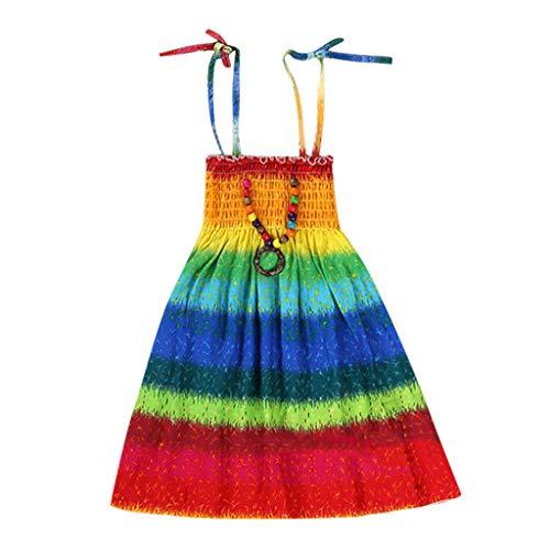 Preisvergleich Produktbild JERFER Blumen Kleid Säugling Mädchen Vestidos Bohemien Strand Riemen Kleid