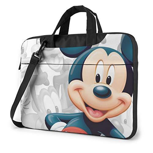 Bolsa de la manga del ordenador portátil Mickey Mouse Tablet Maletín Ultraportátil Lona protectora para 15.6 pulgadas MacBook Pro/MacBook Air/Notebook Computer