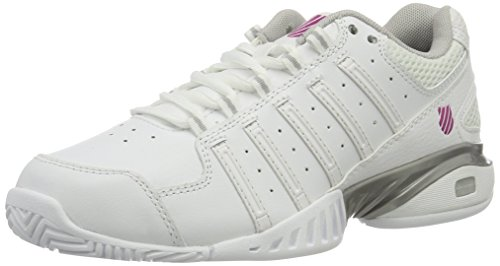 K-Swiss Performance Damen Receiver Iii Tennisschuhe, Weiß (White/Silver/veryberry 162), 40 EU