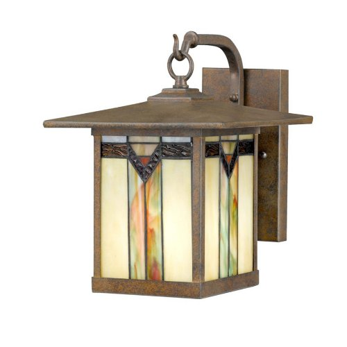 Cecily Bronze Tiffany Style Outdoor Wall Lantern