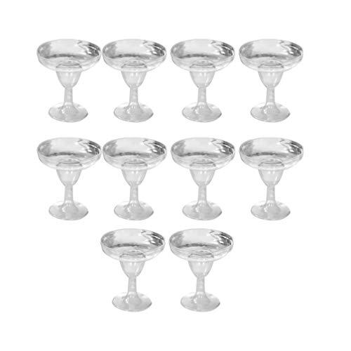 UPKOCH 10 copas de vino desechables de 150 ml, copas de champán desechables de plástico para tostar, vasos desechables para bodas, fiestas, cócteles