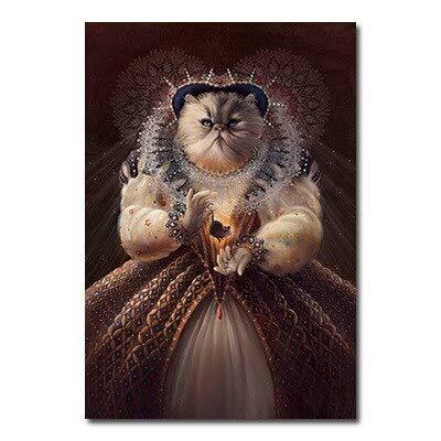 Puzzle 1000 Piezas Gato Animal de Dibujos Animados Elegante Puzzle 1000 Piezas Animales Juego de Habilidad para Toda la Familia, Colorido Juego de ubicación.50x75cm(20x30inch)