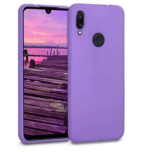 kwmobile Funda Compatible con Xiaomi Redmi Note 7 / Note 7 Pro - Carcasa de TPU Antideslizante y Acabado Rugoso - Violeta
