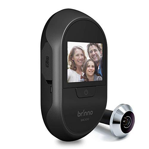 Brinno SHC1000W-14 DUO Mirilla Digital Dual - Cámara para Puerta de Entrada - Transmisión de Vídeo Local y Remota - Sin Cuotas ni WiFi ni Batería, Fácil Instalación, Discreta, Antirrobo, Privacidad
