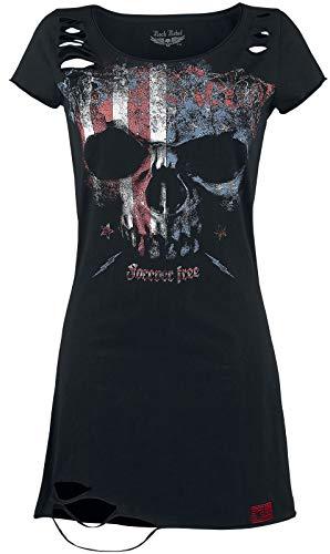 Rock Rebel by EMP Living Legend Mujer Vestido Corto Negro 4XL, 100% algodón, Vintage, Cut-Outs