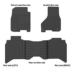WINUNITE Front & Rear Black Slush Floor Mats
