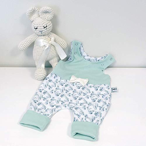 Baby Strampler mit Schleife Eukalyptus - Pastellmint
