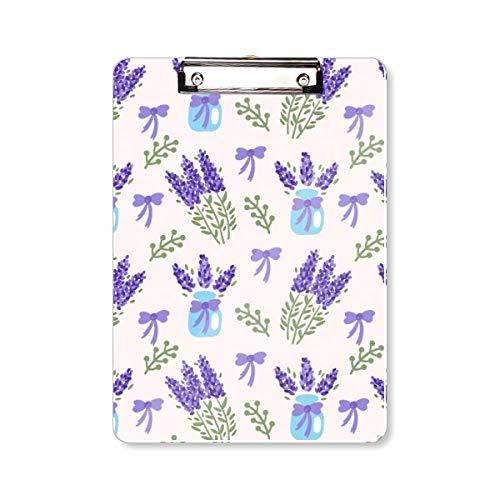 Bloemen Plant Lavendel Decoratie Schilderij Clipboard Folder Schrijven Pad Backing Plate A4