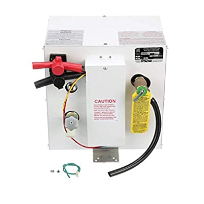 Whale S360EW 12V Water Heater, 3 Gallon Capacity, Quick and Efficient Water Heating, Maintains Hot Water up to 10 Hours, Runs on 12V DC Power, Ideal for Use with Deck Showers, White Epoxy